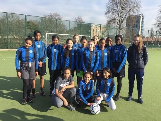Saturday Club Girls at Kennington Park tournament, FEB. 2017