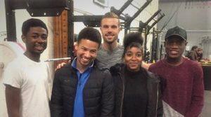 Jordan Henderson visits BTEC students!